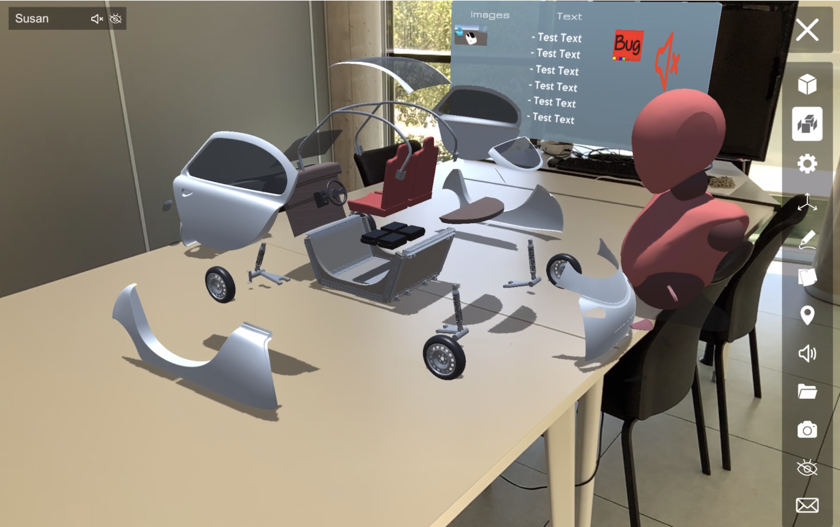 CT launches a virtual meeting room application capable of sharing 3D information