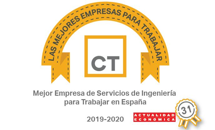 "CT climbs to 31st place in the ""Best Companies to Work For in Spain"" ranking."