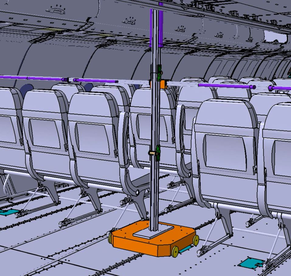 CT develops FlightSafe, an automated UV-C light disinfection system for the interior of commercial aircraft.